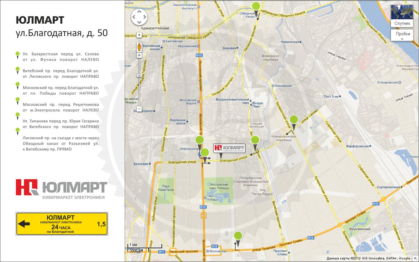 Карта маршрутного ориентирования